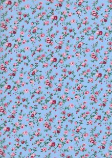 Poly Cotton Print - Rose On Sky