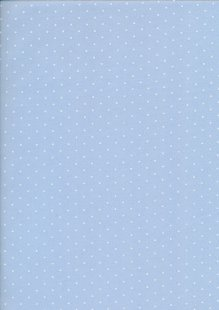 Poly Cotton Pin Spot -Sky Blue