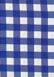 Brushed Cotton Check - Blue