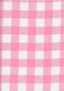 Brushed Cotton Check - Pink
