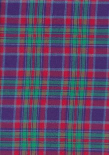 Brushed Cotton Check - Green, Red & Purple