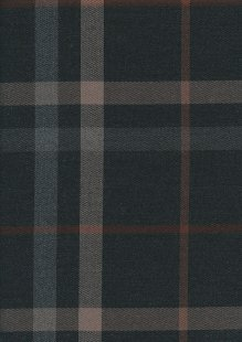 Cotton Poly Viscose Check - Grey & Rust