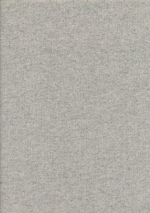 Wool Viscose Herringbone Tweed - Silver Grey