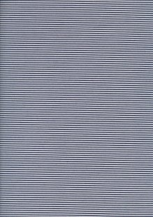 Cotton Poly Spandex Vertical Pin Stripe - Blue & White