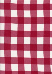 Brushed Cotton - Red Check