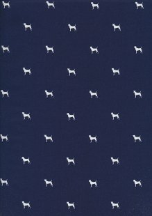 Lady McElroy Cotton Lawn Dogs -Blue