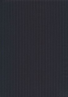 Cotton Spandex Poly Suiting - Black Pin Stripe