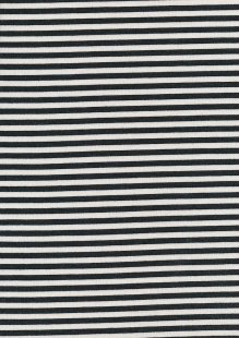 Jersey Stripes Black and White - 91191