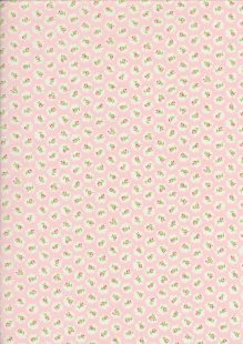 Quality Cotton Print Pale Pink Floral Cloud - Col 1