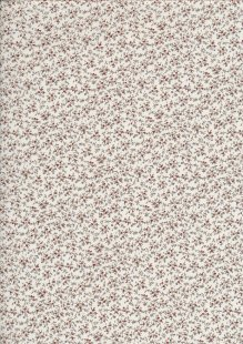 Quality Cotton Print Cream Sprig - Col 1