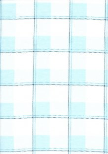 Brushed Cotton Check - Blue and White