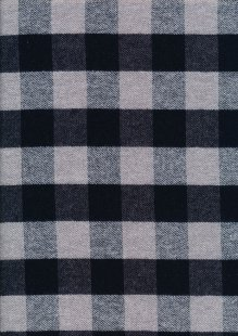 Cotton Check - Grey and Black