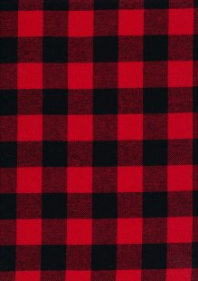 Cotton Check - Red and Black