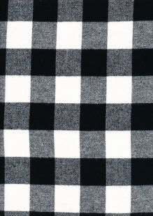 Cotton Check - Black and White