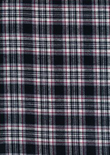 Cotton Check - Black Grey Red