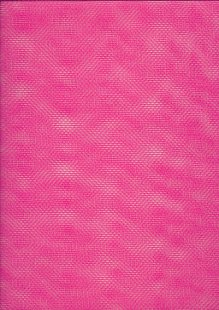 Polyester Dress Net Raspberry Pink