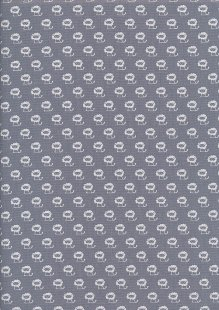 Poppy Europe Cotton Print Grey Lions