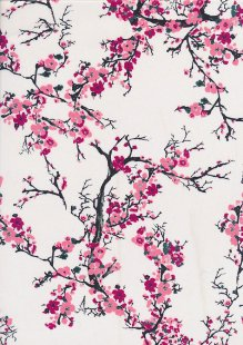 Cotton Sateen Cherry Blossom White