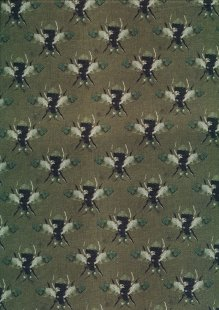 Lady McElroy Cotton Lawn Digital Print - Green 429