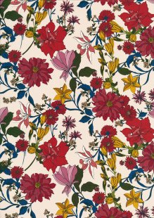 Lady McElroy Cotton Lawn Digital Print - Ecru 990