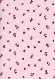 Poly/Cotton Pink Cherries