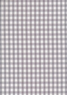 "Poly/Cotton - Gingham 1/4 "" Grey"