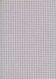 "Poly/Cotton - Gingham 1/8 "" Grey"