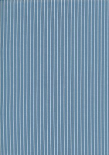 Poly/Cotton - Stripe W.Blue Design 46