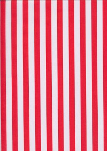 Poly/Cotton - Large Stripe Red White