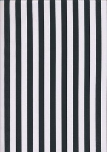 Poly/Cotton - Large Stripe Black White