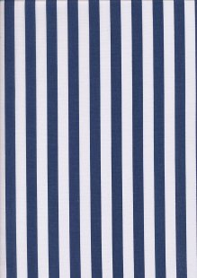 Poly/Cotton - Large Stripe Navy White