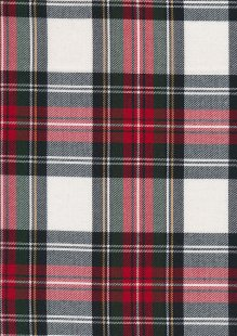 Tartan - Red and White