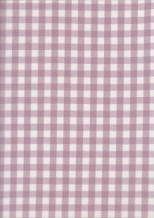 Yarn Dyed Cotton Gingham  - Dusky Purple 2021D