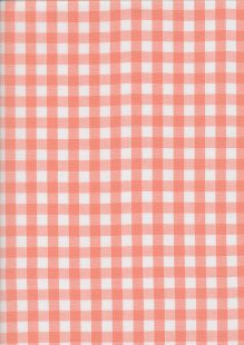 Yarn Dyed Cotton Gingham  - Peach 2021C