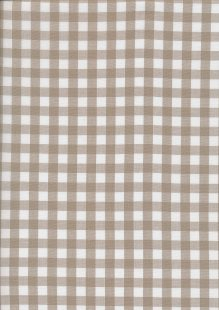 Yarn Dyed Cotton Gingham  - Taupe 2021L