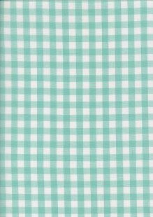 Yarn Dyed Cotton Gingham  - Aqua 2021E