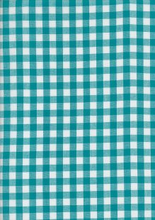 Yarn Dyed Cotton Gingham  - Dark Turquoise 2021F