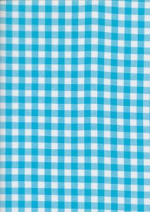 Yarn Dyed Cotton Gingham  - Light Turquoise 2021H