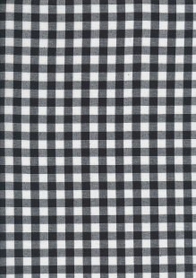 Yarn Dyed Cotton Gingham  - Black 2021T