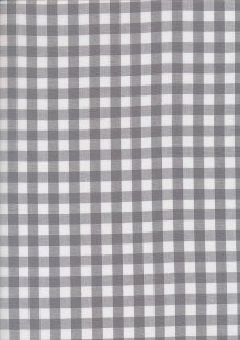 Yarn Dyed Cotton Gingham  - Grey 2021S