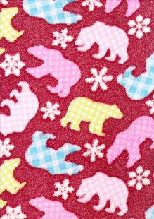 DOU Cuddle Fleece - Red Polar Bears