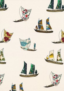 Lady McElroy Cotton Lawn - Vintage Sailing Multicoloured 1059