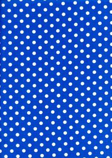 DOU Cotton - Spots Blue 2