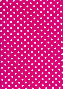 DOU Cotton - Spots Hot Pink 2