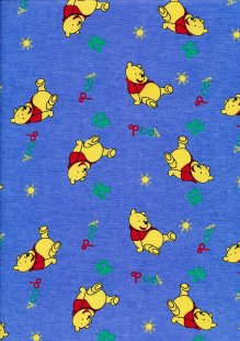DOU Brushed Cotton - Winnie the Pooh Blue 2