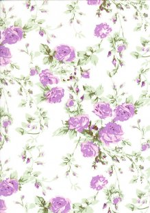 Poly Cotton - Climbing Rose Purple