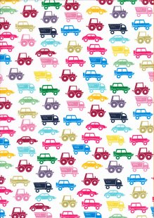 Poly Cotton Vehicles Multicoloured