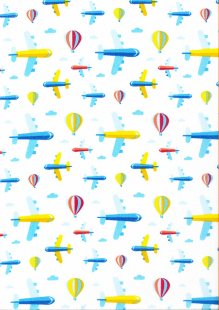 Poly Cotton Aeroplane White