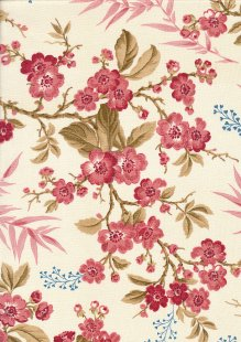Little Sweetheart By Edyta Sitar For Andover Fabrics - Raspberry Bouquet 8822C#E
