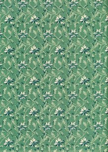 Sequoia By Edyta Sitar For Andover Fabrics - 2/8753T Buds & Vines Blue Spruce